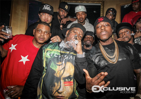 YMCMB Attend Dream Nightclub In Miami To Celebrate DJ Stevie J Birthday