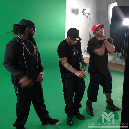 YMCMB Shoot One Night Music Video Featuring T-Pain In Miami