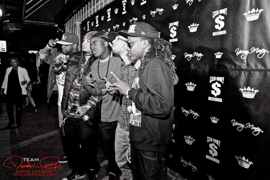 Pics Of YMCMB On Red Carpet Of Welcome Home Tunechi Party