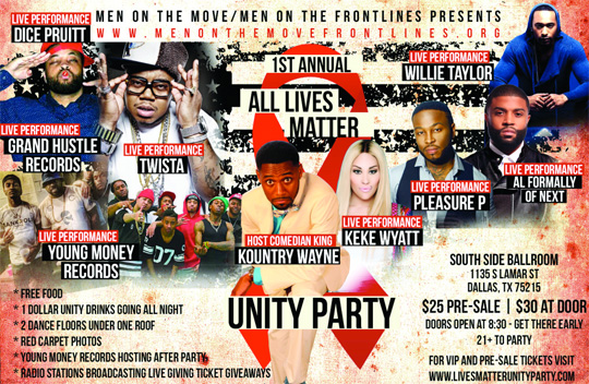 Young Money To Perform At The 1st Annual All Lives Matter Unity Party In Dallas Texas