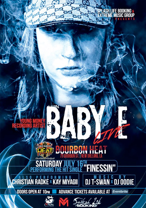 Baby E To Attend & Perform Live At Bourbon Heat Nightclub In New Orleans