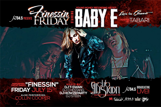 Baby E To Attend & Perform Live At Club Illusion 2 In Gulfport Mississippi
