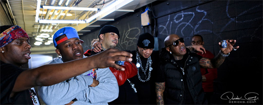 On Set Of Birdman, Gudda Gudda & French Montana Shout Out Video Shoot