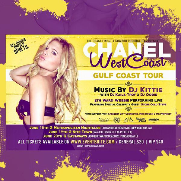 Chanel West Coast Announces A 3 Day Gulf Coast Tour In Louisiana & Florida