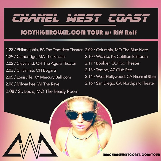 Chanel West Coast Has Been Added To Riff Raff Tour Around The United States
