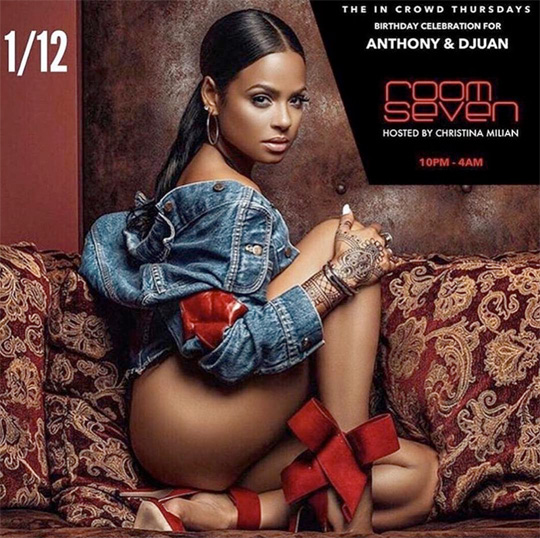 Christina Milian To Host A Party At Room Seven Nightclub In Chicago