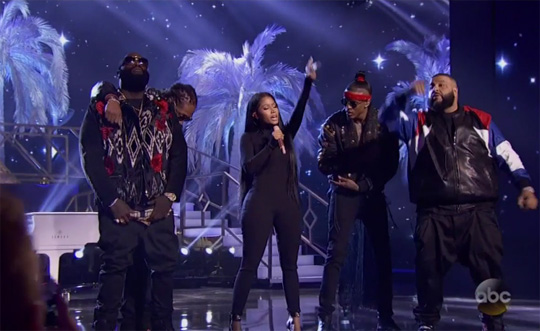 DJ Khaled, Nicki Minaj, August Alsina, Future & Rick Ross Perform Do You Mind Live At The 2016 American Music Awards