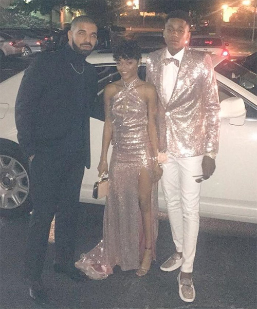 Drake Accompanies His Cousin Jalaah & Her Date To Prom At Fairley High School In Memphis