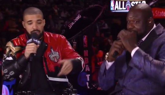 Drake Makes Appearance On Inside The NBA, Raps Back To Back While Shaquille ONeal Beatboxes
