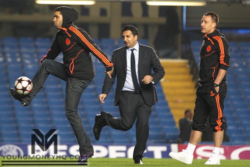 Drake Plays Football With Chelsea FC