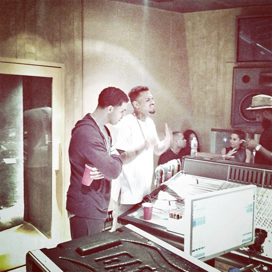 Drake & Chris Brown Settle Their Differences & Hit Up The Studio Together