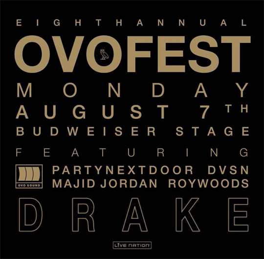 Drake Announces 8th Annual OVO Fest In Toronto, Reveals Lineup