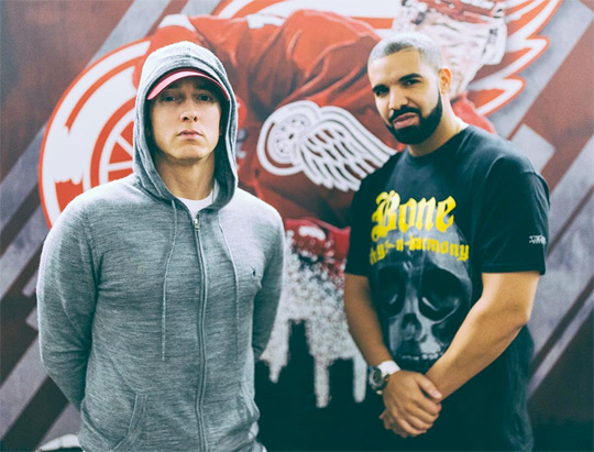 Drake Brings Out & Bows Down To Eminem During The Detroit Stop Of His Summer Sixteen Tour