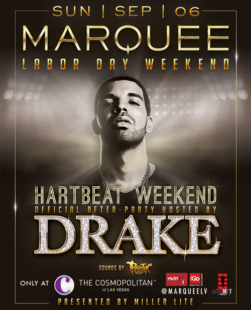 Drake To Perform At A Concert & Host An After Party During Hartbeat Weekend In Vegas