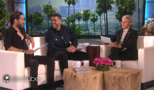 Drake Talks Getting His First No 1 With One Dance, Rihanna, Plays A Game With Jared Leto & Gets A Scare On The Ellen DeGeneres Show