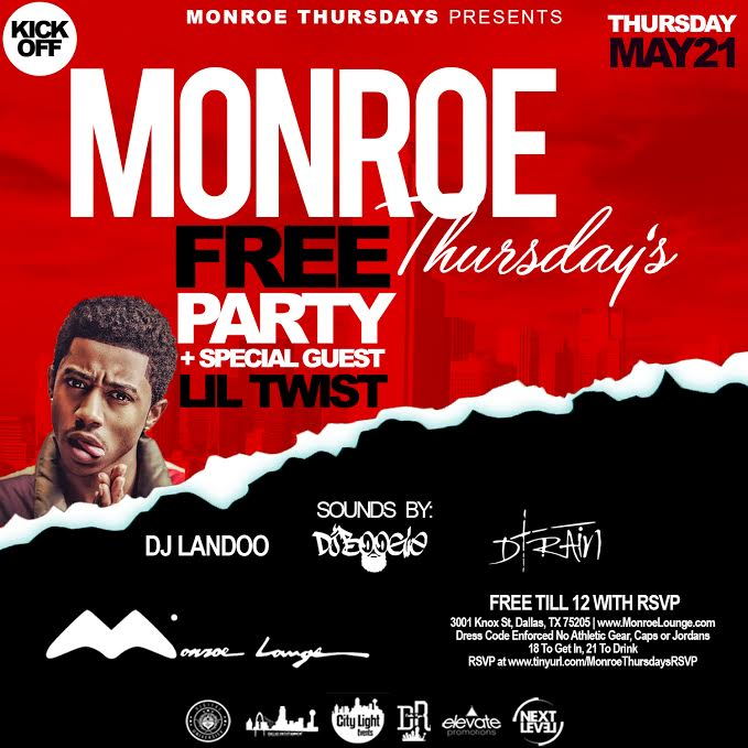 Lil Twist To Host A Party At Monroe Lounge In Dallas Texas