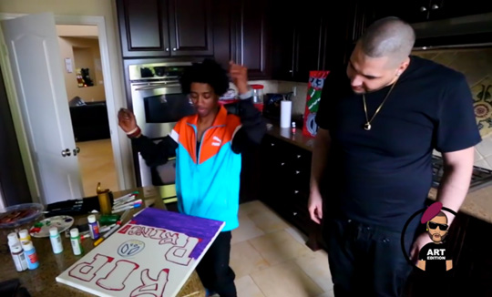 Lil Twist Talks Signing To Lil Wayne & Growing Up In Dallas While Painting A Tribute To Prince