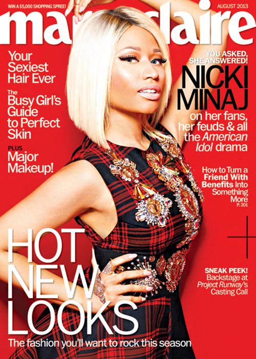 Nicki Minaj Covers August Issue Of Marie Claire Magazine