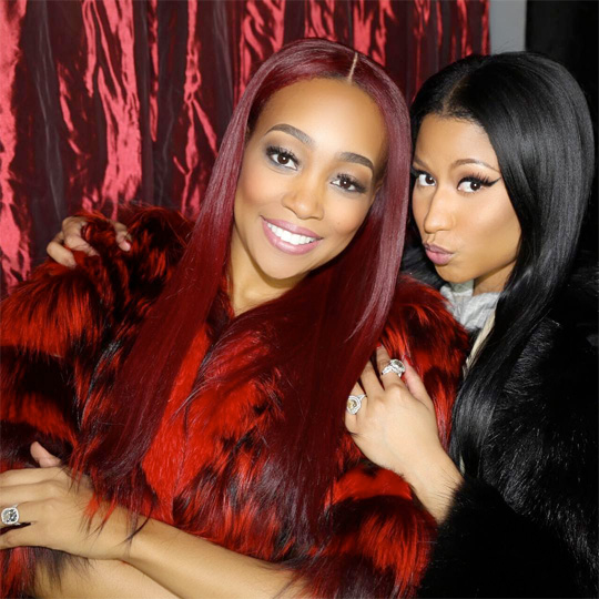 Nicki Minaj Celebrates Her 33rd Birthday Watching A Monica Show In Philadelphia