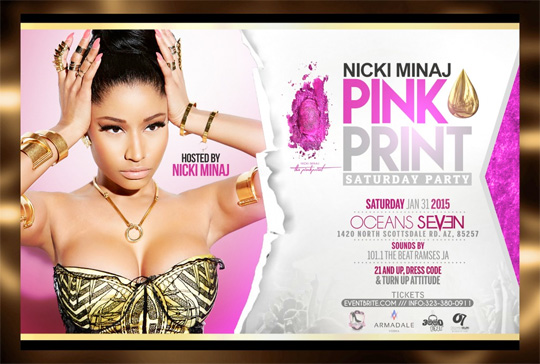 Nicki Minaj Is Hosting A Party At Ocean 7 Nightclub In Arizona Over Super Bowl Weekend