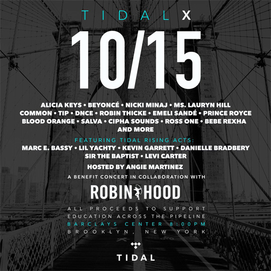 Nicki Minaj To Perform Live At TIDAL X 1015 Benefit Concert In Brooklyn New York City
