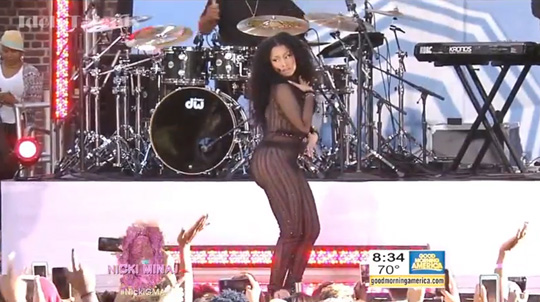 Nicki Minaj Performs Live At Good Morning America 2015 Summer Concert Series