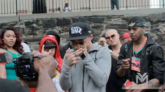 On Set Of China Mac & Cory Gunz One Shot Video Shoot In The Bronx