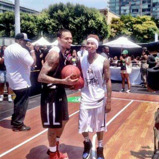 Tyga Takes Part In BET Celebrity Basketball Game