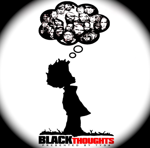 Tyga Black Thoughts Mixtape Official Front Cover