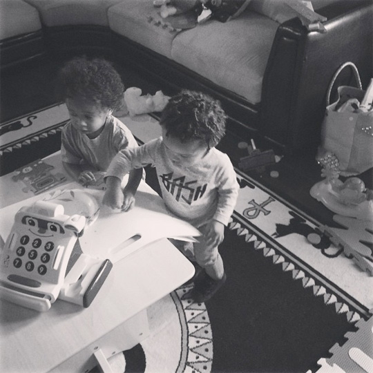 Tyga & King Cairo Have A Play Date With Wiz Khalifa & Sebastian